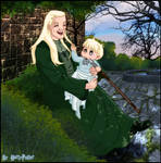 Lucius Malfoy and baby Draco