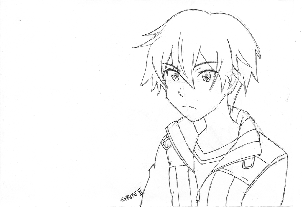 Kirito Sketch by atomiksprout