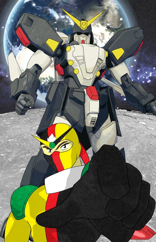 G Gundam - Schwarz Bruder - Gundam Spiegel by atomiksprout