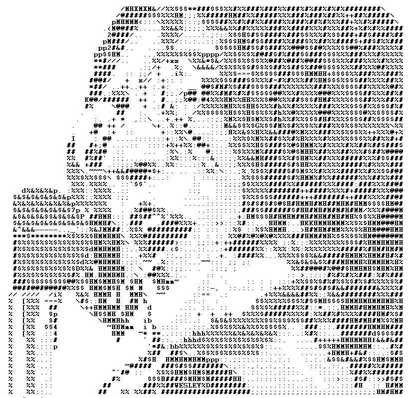 John Lennon ASCII by halftone