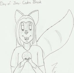 Day of Zoey 73 - Cookie Break by ZoieFalcona