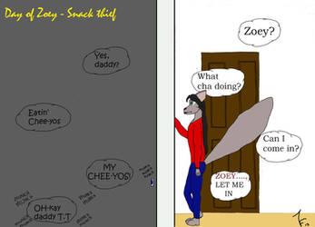 Day of Zoey 85 - Snack Thief by ZoieFalcona