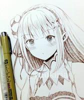 Emilia (Re: Zero) by yuukiria