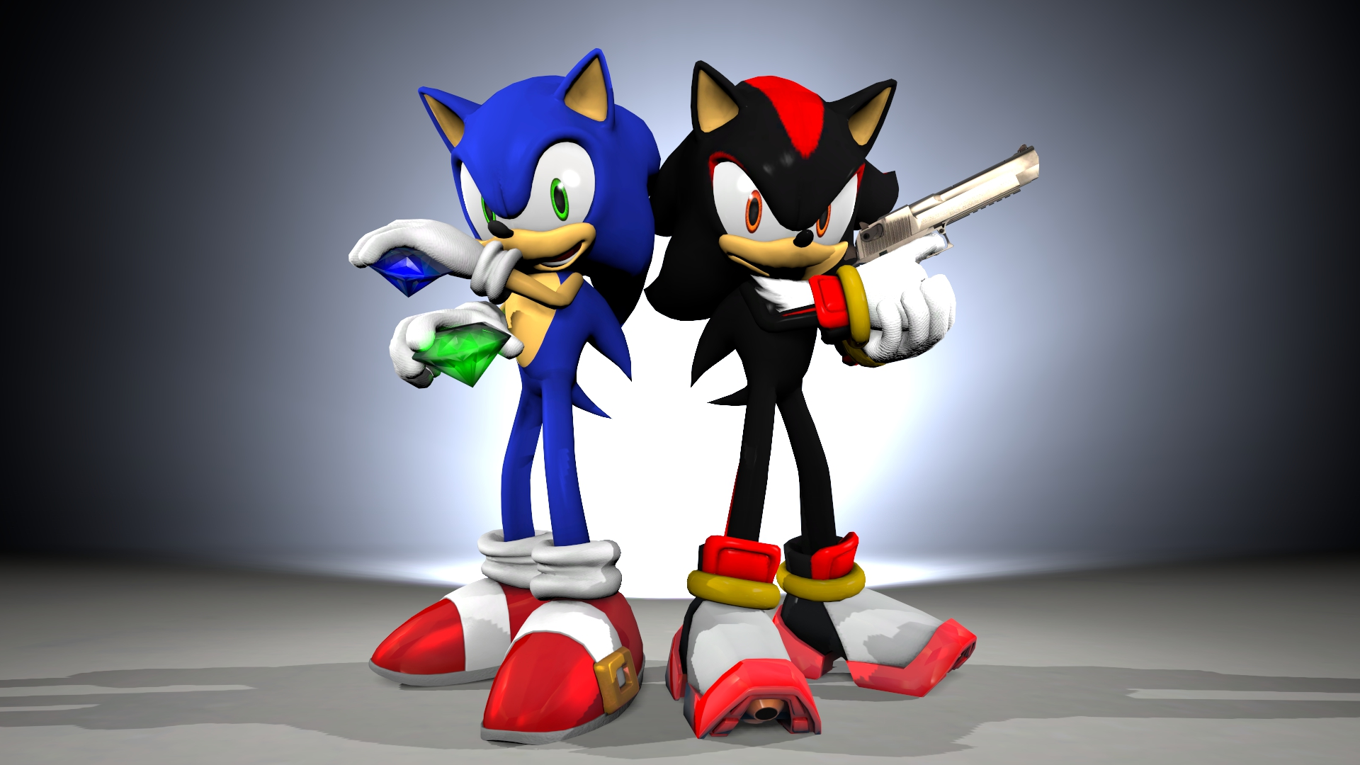 Sonic n 39 shadow wallpaper attempt by theriverkruse on - Sonic et shadow ...