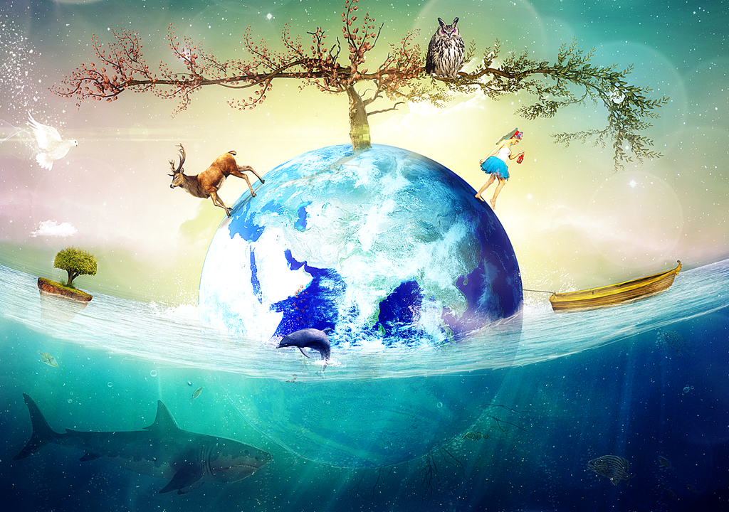 Earth Is Floating Nicely by fantmayo