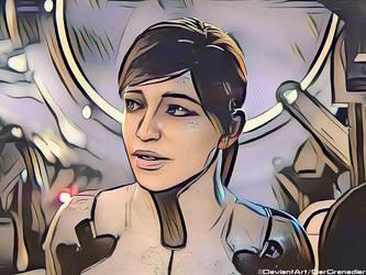 Sara Ryder in Pop Art [ME:A] by DerGrenadier