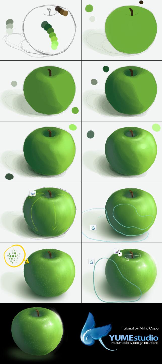 apple tutorial by michan on deviantart