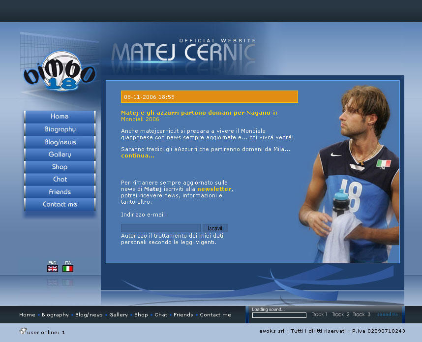 Matej Cernic web site by michan