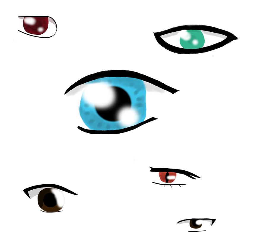 Anime Characters Eyes : Anime character eyes xd by gaaraxluvsxshadow on deviantart