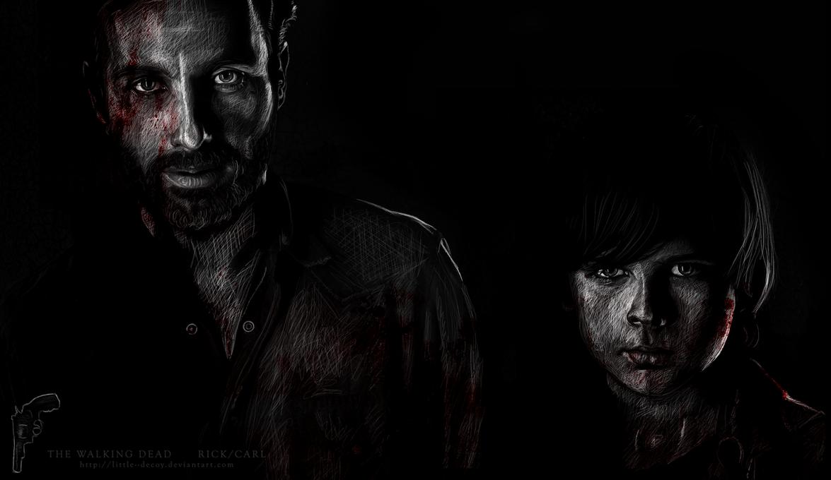 The Walking Dead cast: Rick/Carl by Little--Decoy