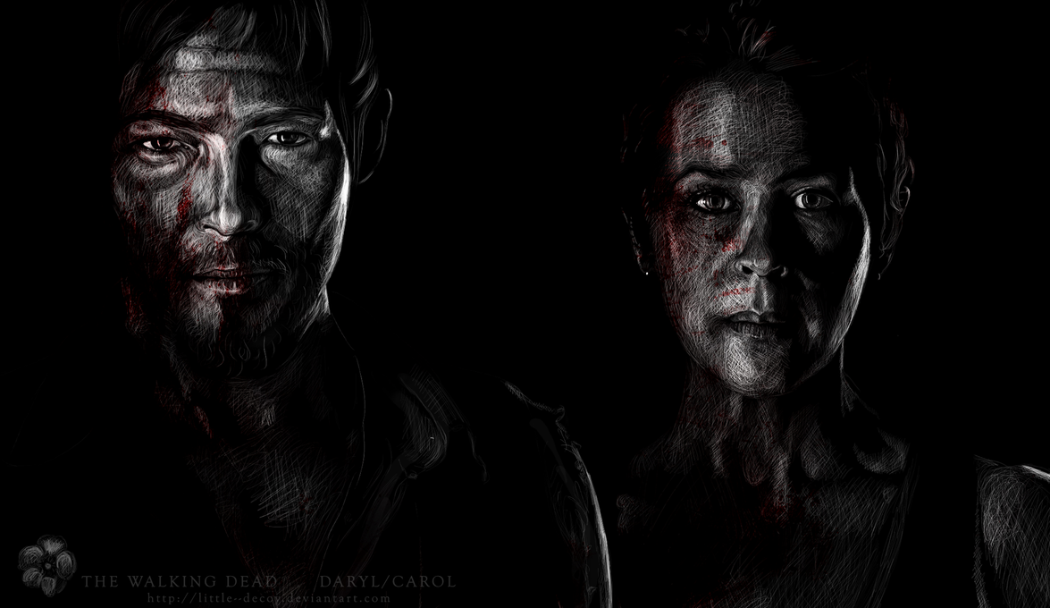 The Walking Dead cast: Daryl/Carol by Little--Decoy