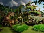 Tyrannosaur family