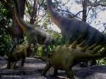 Kentrosaurus and Brachiosaurus.