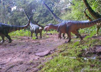 Chilantaisaurus Attacks by Carnosaur
