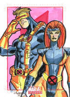 Psyclops and Jean Grey by ayersart
