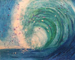 Abstract ocean wave