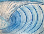 Abstract ocean wave by adamBomb123