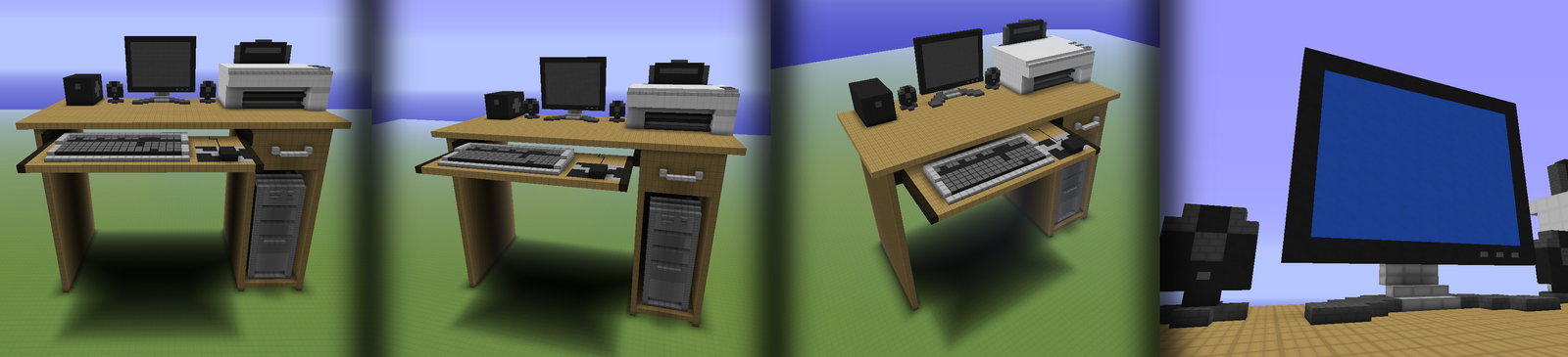 Minecraft Computer Desk by watermeloons