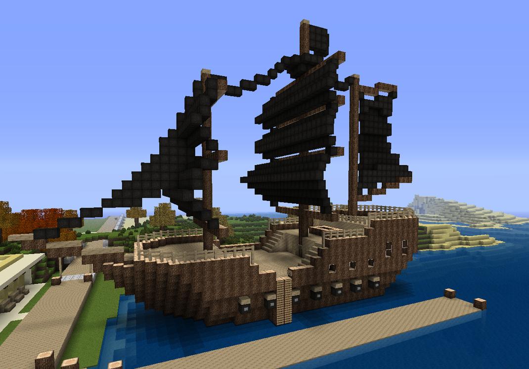 Minecraft Pirate Ship Schematics - Custom Wiring Diagram • on small minecraft ship plans, small minecraft yacht tutorial, small minecraft village, small boats mod minecraft,