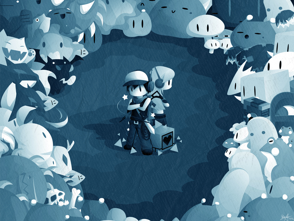 cave story wallpaper by watermeloons on deviantart