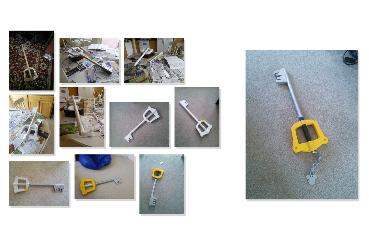 Keyblade paper mache by watermeloons on deviantart for Buy paper mache glue