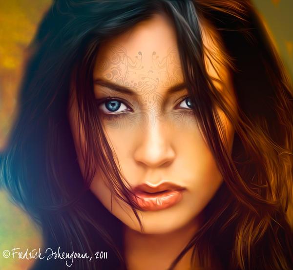 Beautiful Brunette by ishengomaf