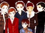 Glee - All the boys chibis
