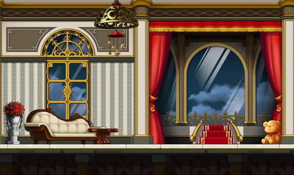 Fancy Looking Living Room Custom Background By EightQueens