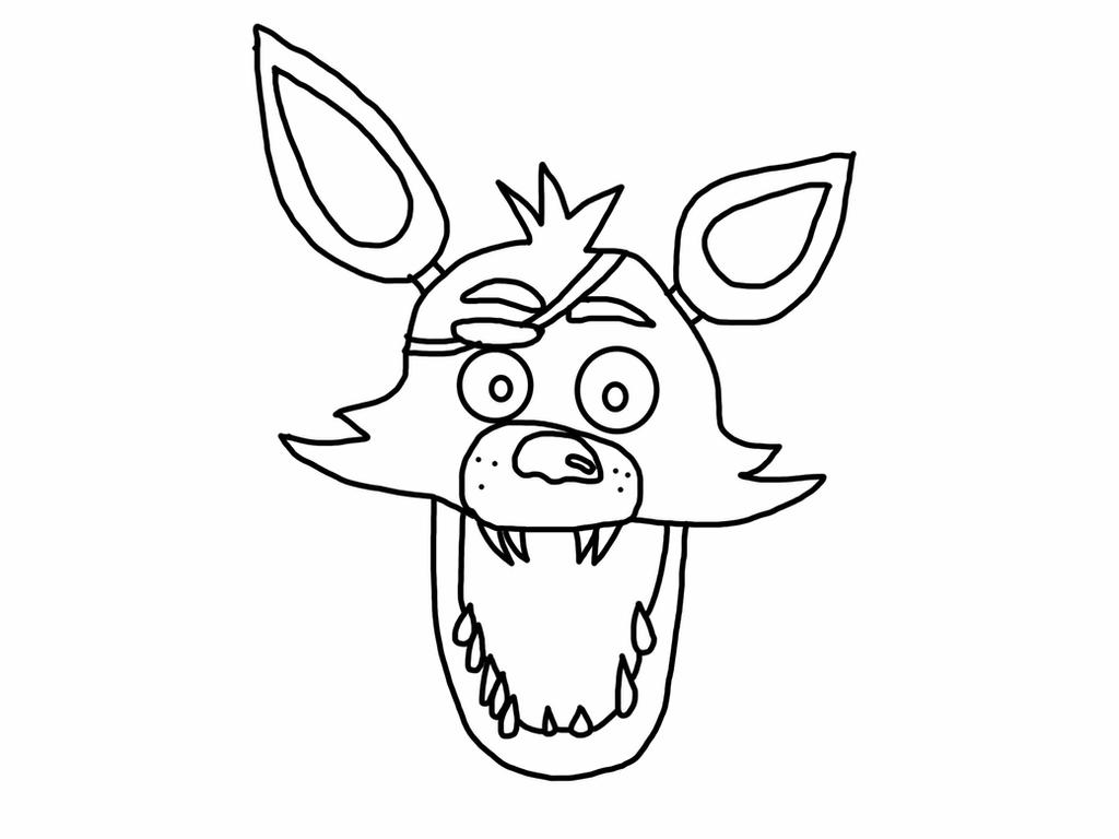 foxy the pirate coloring pages - photo#36