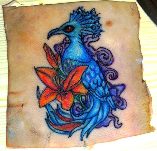 Tattoo on pig skin by grazzyemo on deviantart for Pig skin tattoo