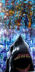 2'x4' Shark Painting by JoshUsmani