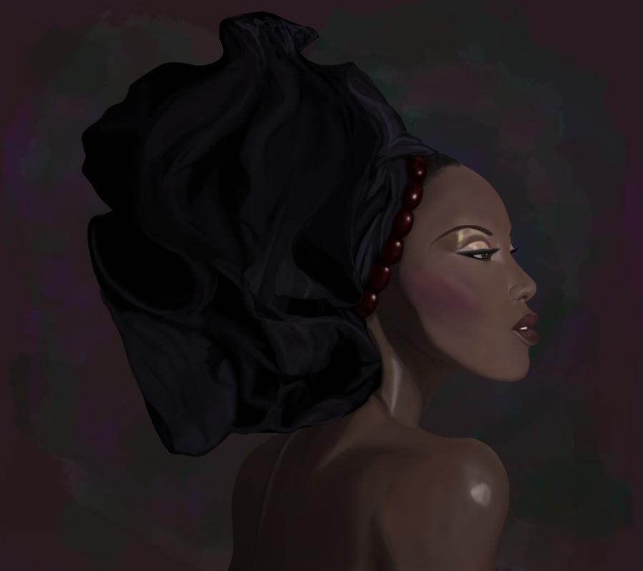 African-American Woman by zilfoxx
