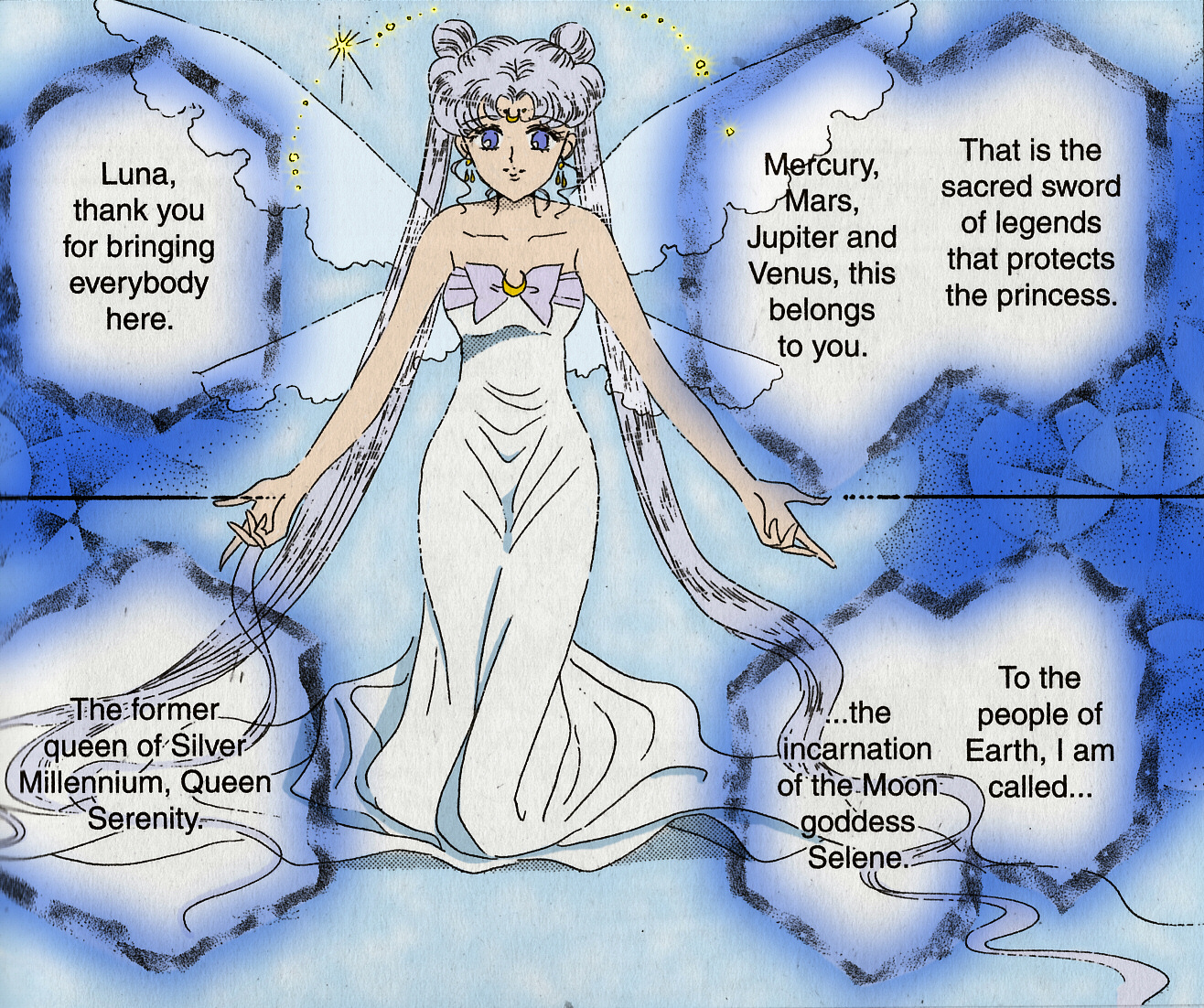 Princess serenity coloring pages - Queen Serenity Manga Color By Blaze Jaganshi