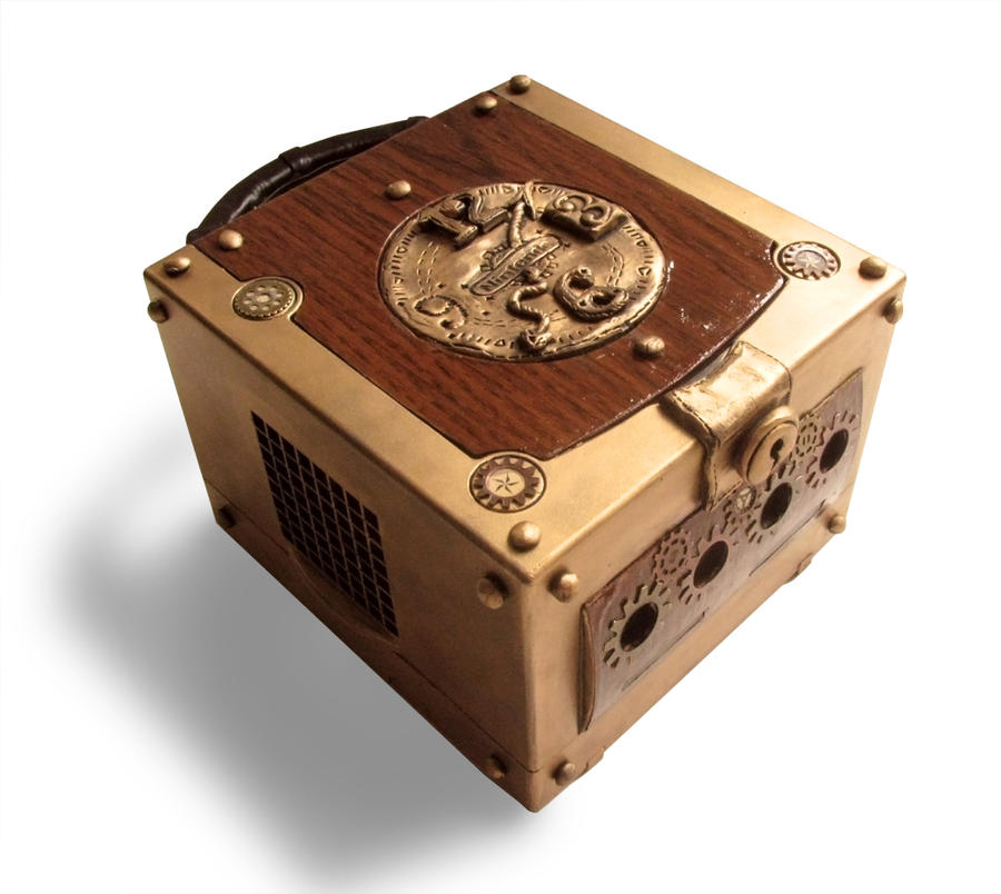 Conheça os impressionantes consoles customizados de Oskunk Steampunk_gamecube__2__by_faithapril-d94t585