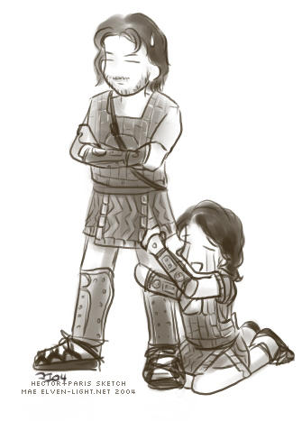 Troy - Hector and Paris doodle by ilmenhin