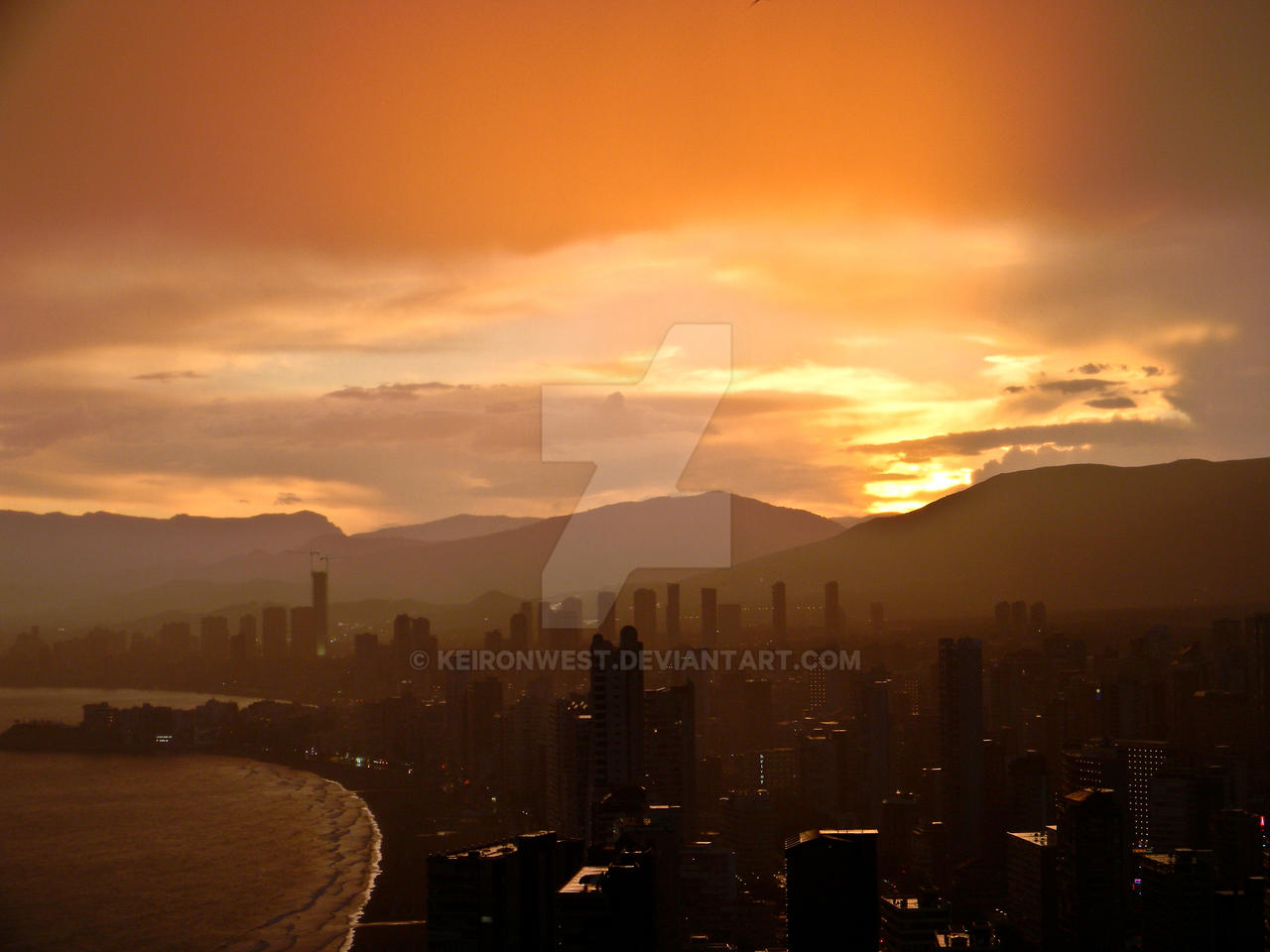 Benidorm Sunset Resort Photography Print by KeironWest