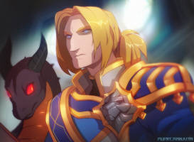 Anduin and Wration by DemonicSerpent101
