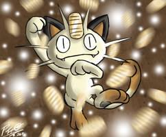 Pkmn Meme - Day 14 - Meowth by Patrick-Theater