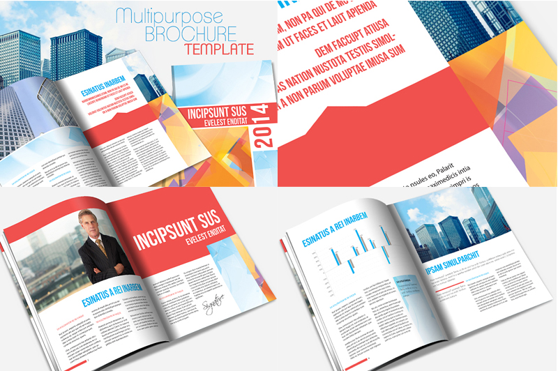 InDesign Annual Report Brochure Template by templatepickup on – Template Annual Report