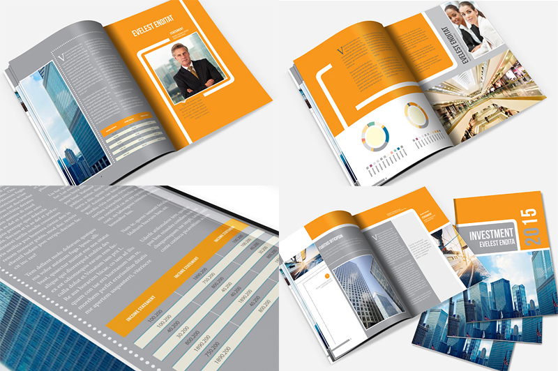 InDesign Annual Report Brochure Template by templatepickup on – Annual Reports Templates