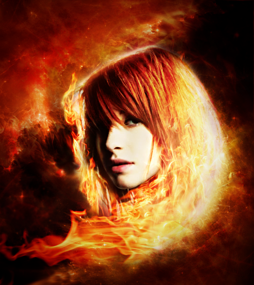 Hairy redhead flaming
