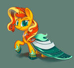 Sunset's Gala Gown