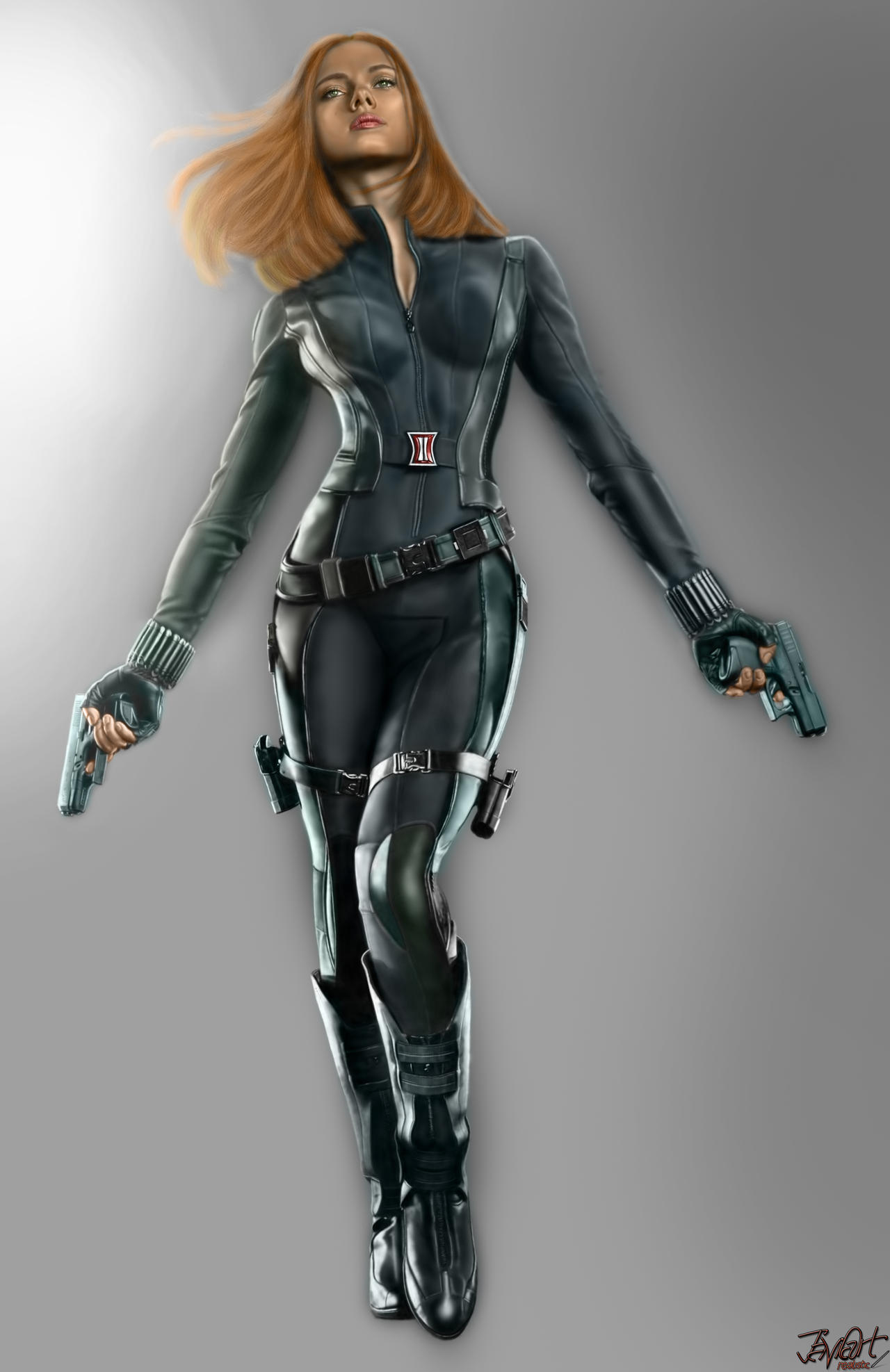 Black Widow (Captain America 2) by javiartrealistic on ...Captain America 2 Poster Black Widow