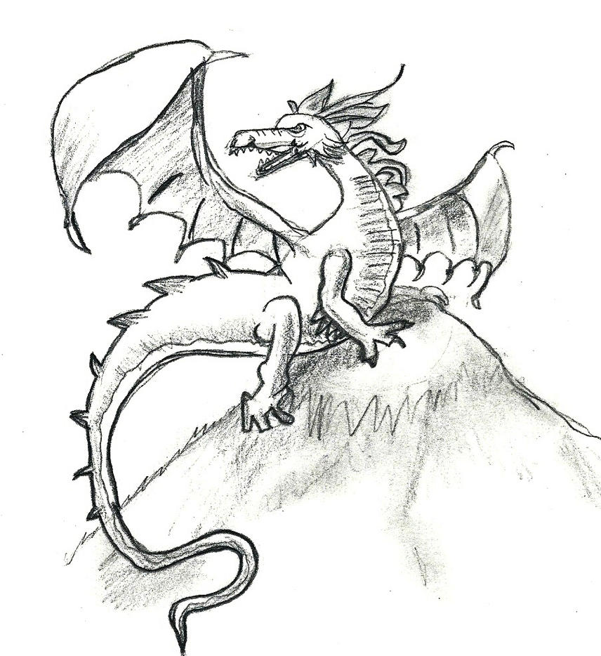 dragon drawing by zstew2 on deviantart