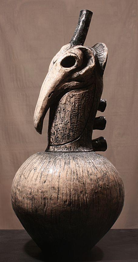 CORVUS#2. ceramic, 22x12 in. 2014 by kd-matheson