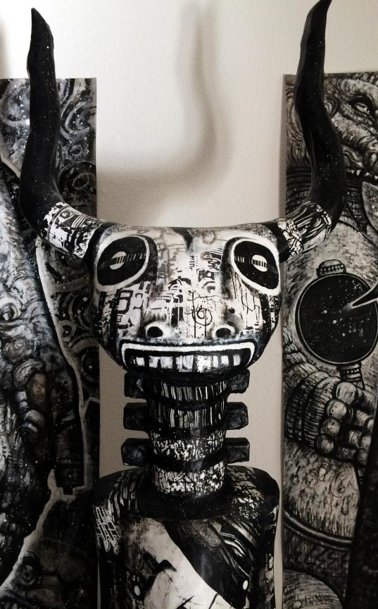 MINOS,detail.paper mache, 72x27 in.2014 by kd-matheson