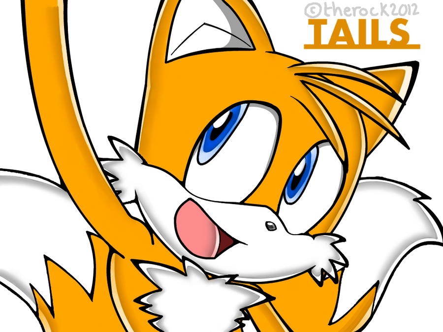how to draw tails the fox step by step