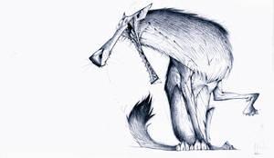 Pub doodle Wolf by JBVendamme