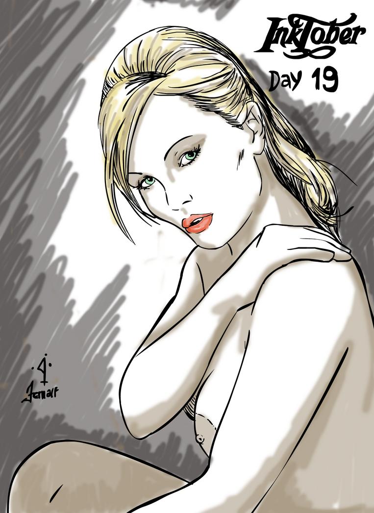 Inktober 19 - Silvia Saint by fernalf
