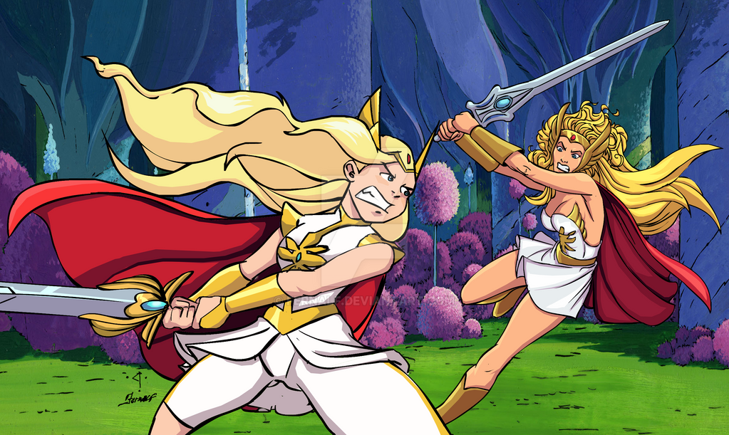 She-Ra VS She-Ra by fernalf